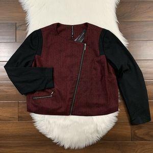 View By Walter Baker Asymmetrical Zip Crop Jacket